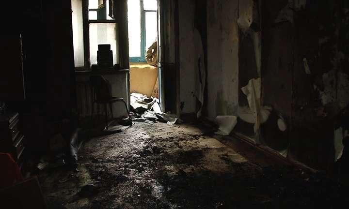 Квартира выгорела целиком