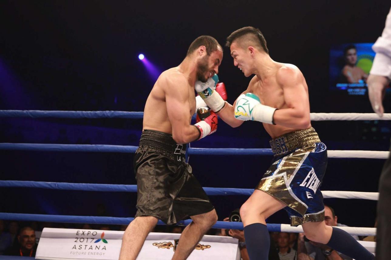 Первый бой Димаша Ниязова в Казахстане