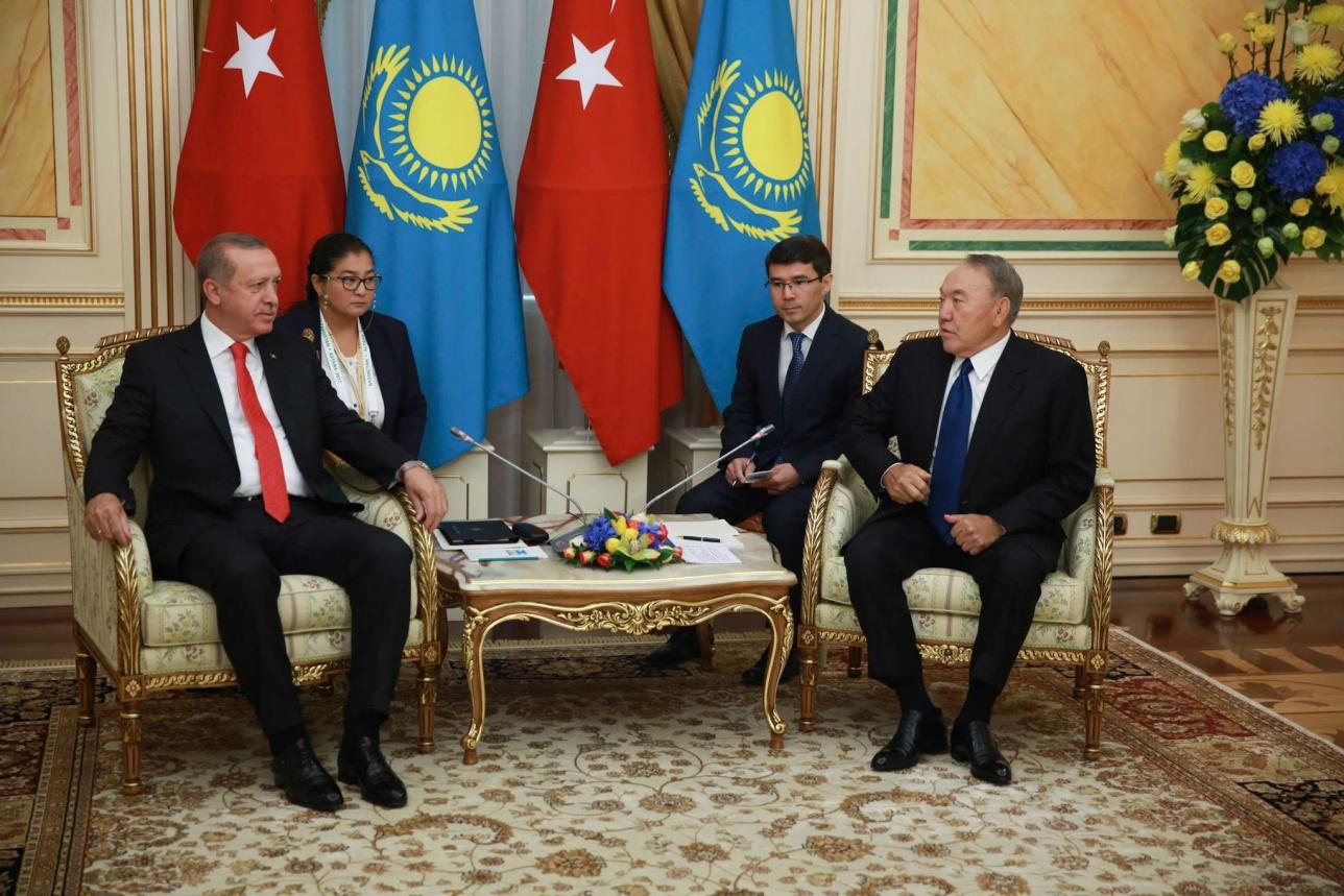 Встреча Нурсултана Назарбаева и Реджеп Тайип Эрдогана в Астане