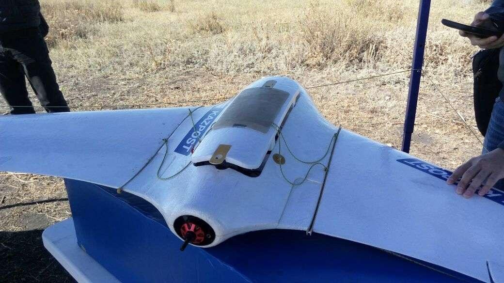 Похожий на модель самолёта беспилотник стоит около 4 млн тенге