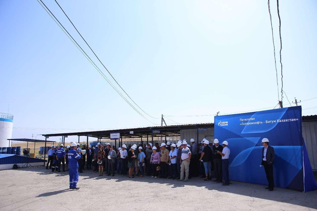 """""""Газпром нефть"""" запустил новое производство битумной продукции в Толебийском районе ЮКО"""