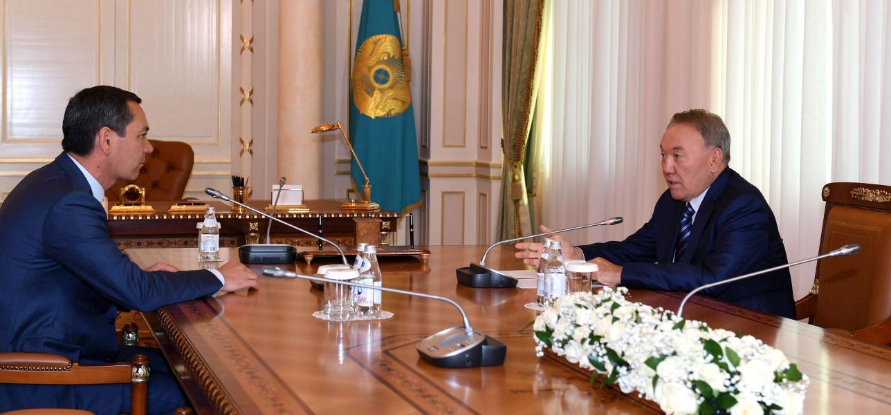 Встреча Нурсултана Назарбаева с кандидатом в президенты Кыргызстана