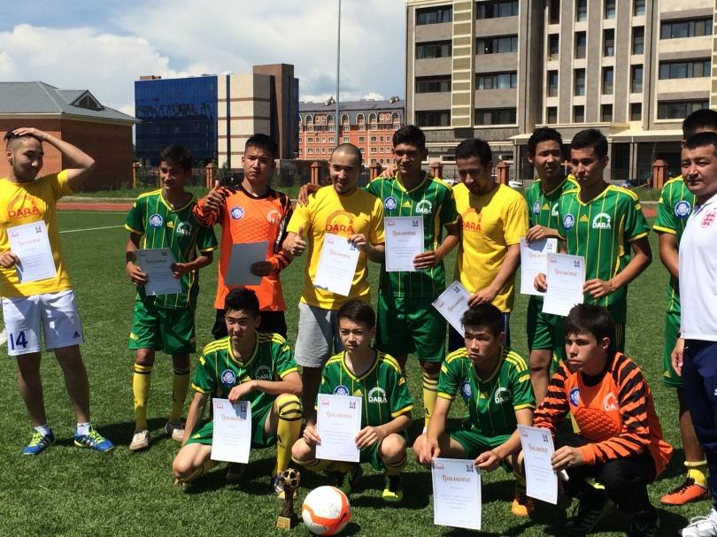 Воспитанники школы-интернат провели спортивный день со звездами.