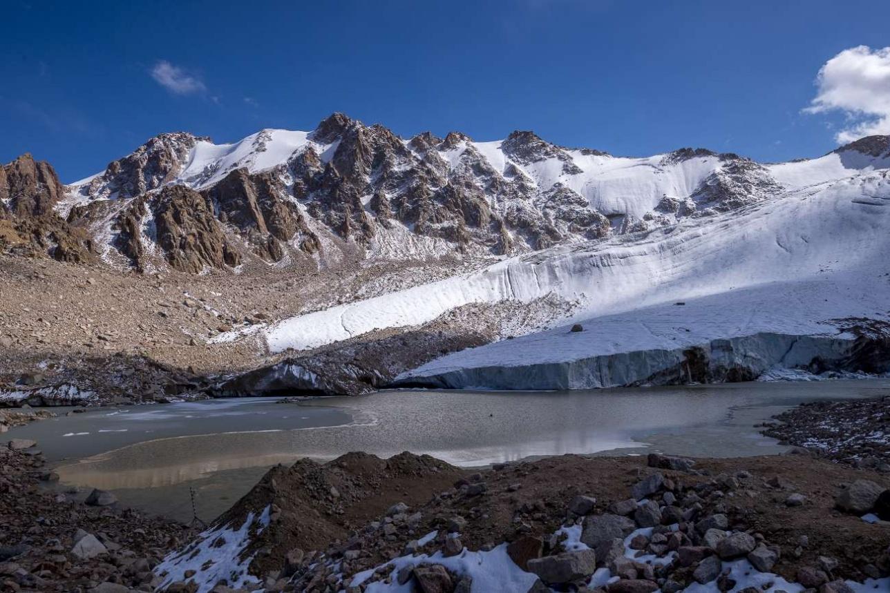 На высоте 3500 метров над уровнем моря уже зима
