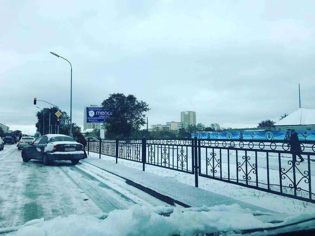 Снег в Караганде