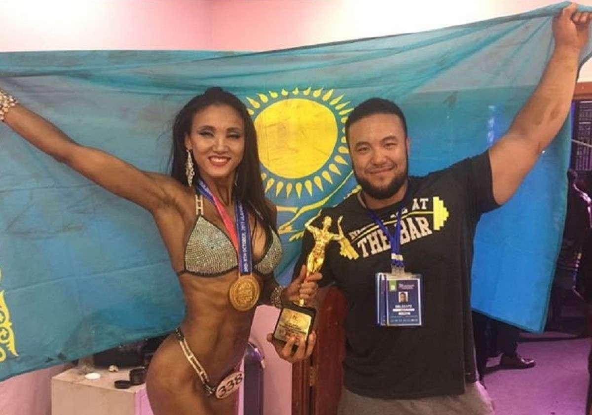 Ляззат Акшаева с тренером