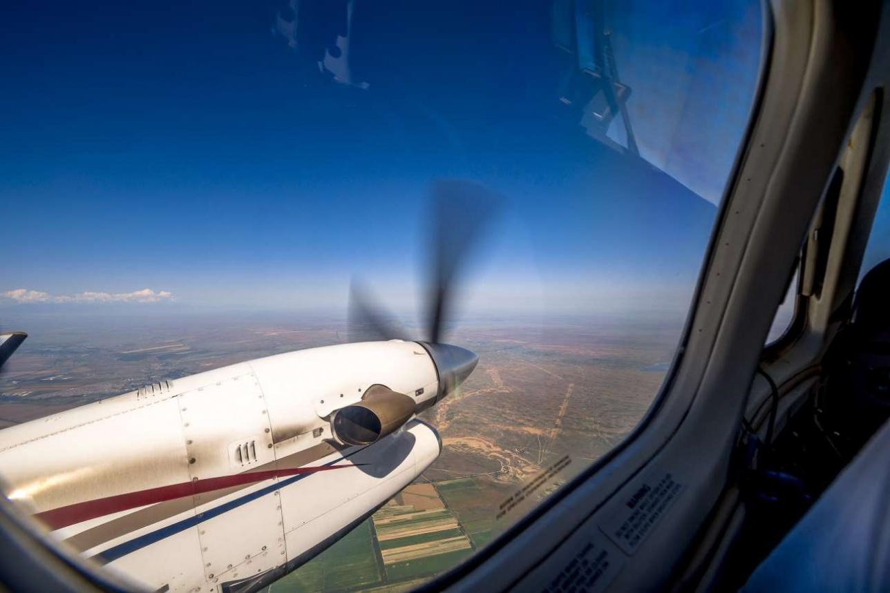 Super King Air 350 оснащен двумя турбовинтовыми двигателями Pratt & Whitney Canada PT6A60A