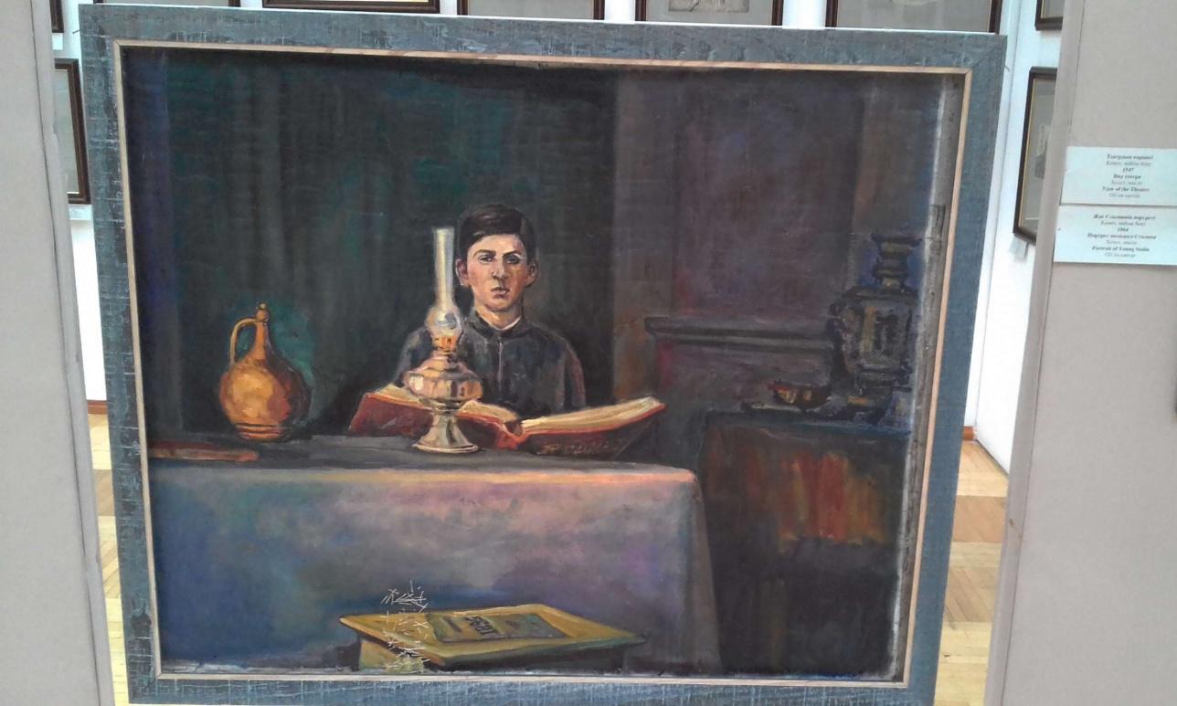 """Сергей Калмыков. """"Портрет молодого Сталина"""" (холст, масло, 1964)."""