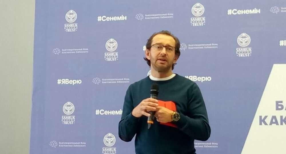 Константин Хабенский на встрече в Астане