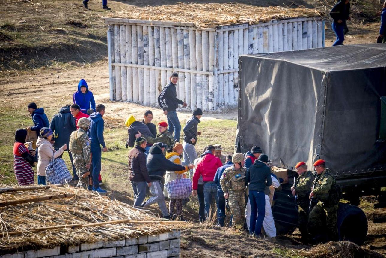 Раздача гуманитарной помощи