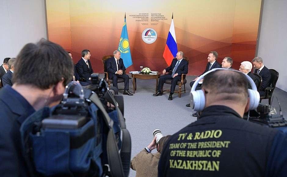 Встреча президентов Казахстана и России