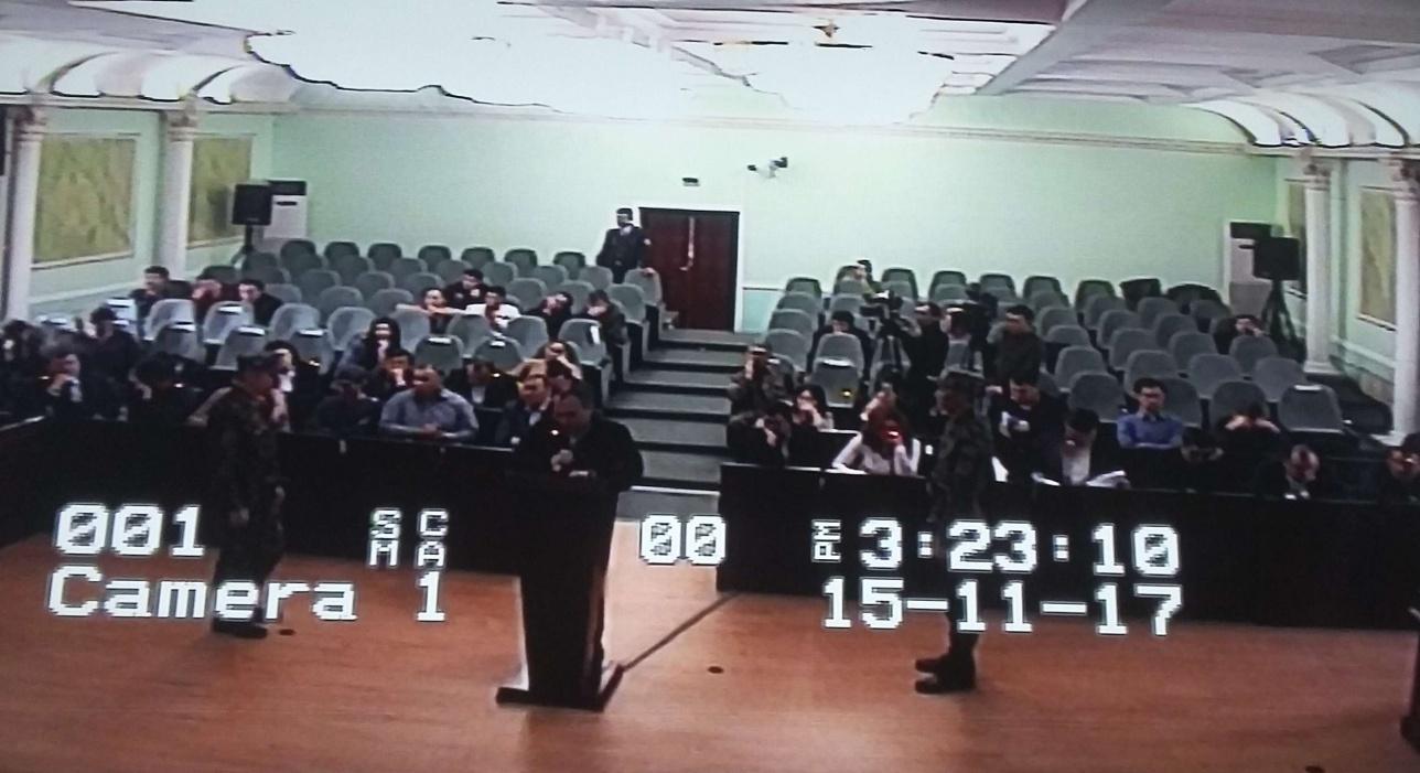 Газиз Сариев даёт показания в суде