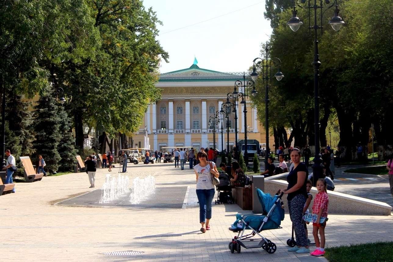 Улица Панфилова после реконструкции