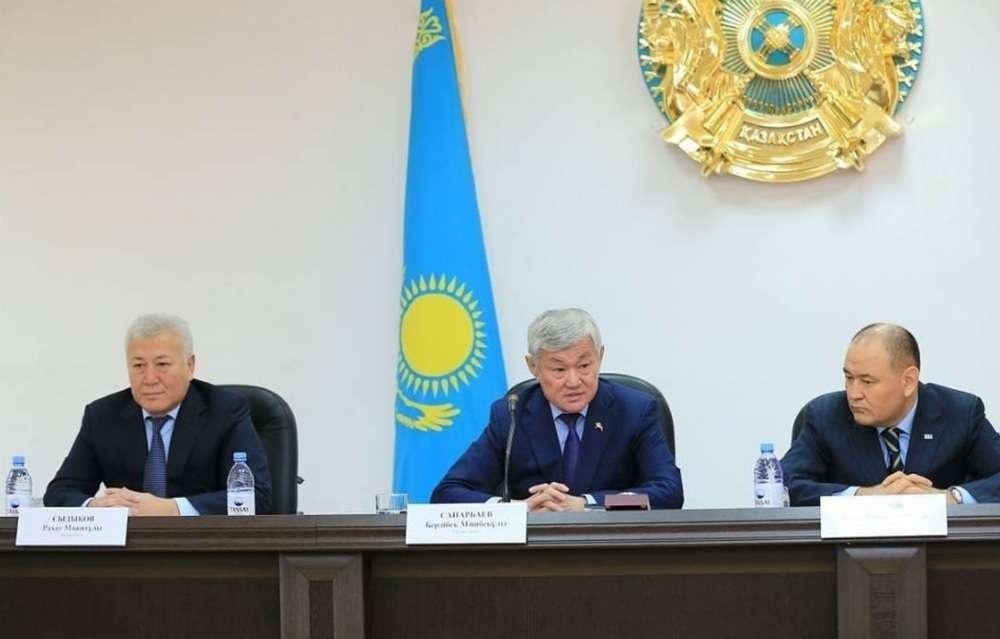 Бердыбек Сапарбаев в Каргалинском районе