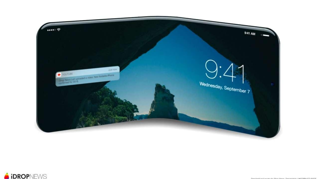 Apple патентует сгибаемый дисплей для смартфона