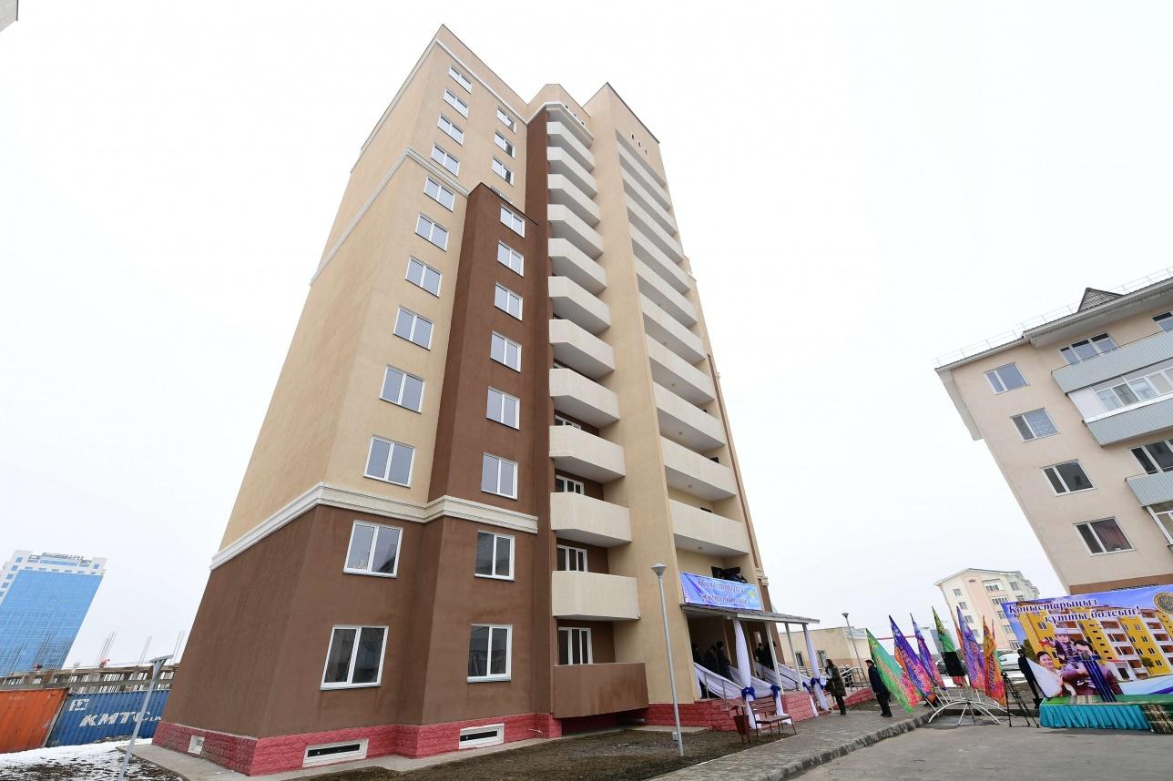 Новый многоквартирный дом в Талдыкоргане