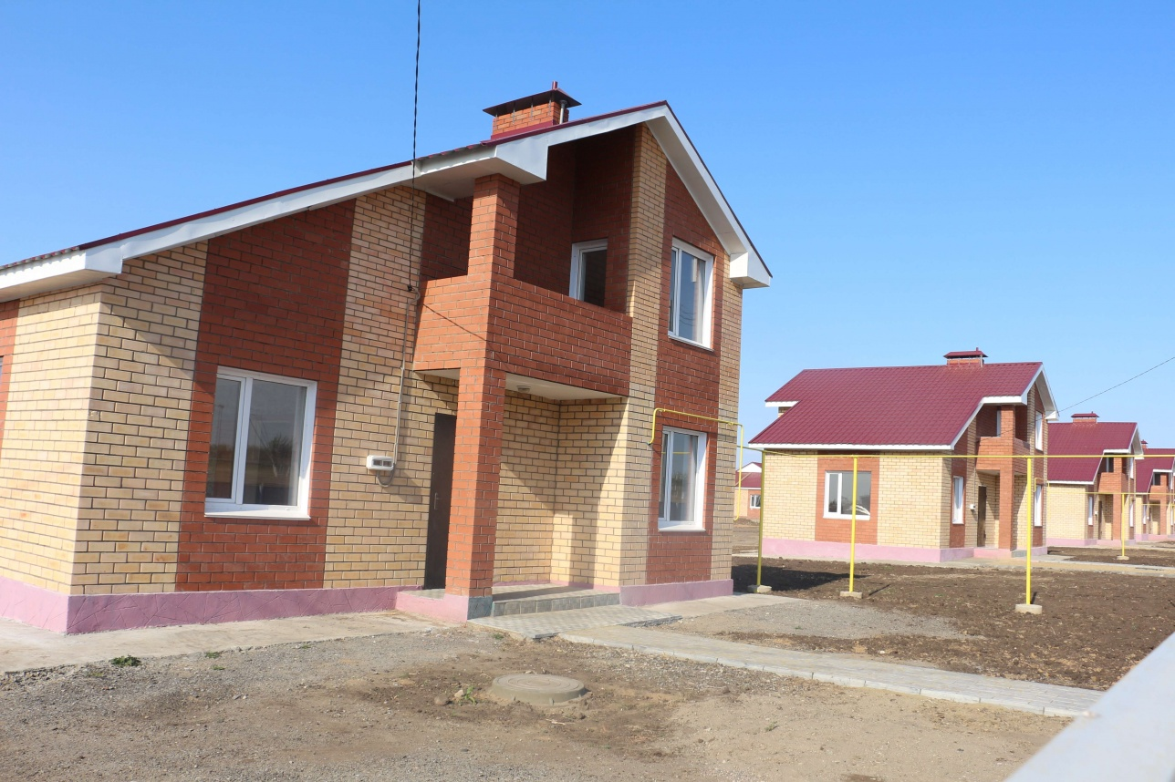 """Дома в коттеджных городках, построенные по программе """"Нурлы Жер"""""""