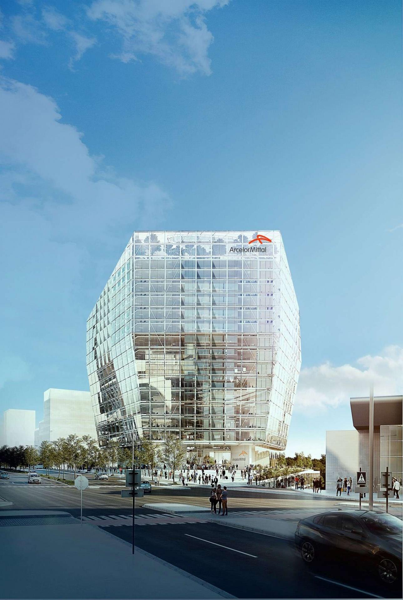 """Такое здание планирует построить """"АрселорМиталл"""" в Люксембурге"""