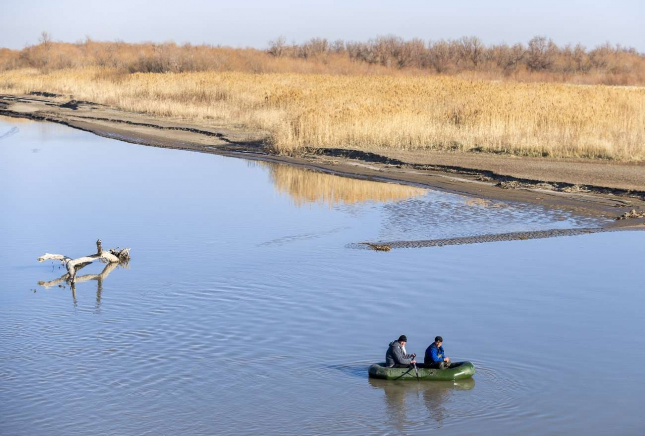 Браконьеры в верхней дельте реки Или