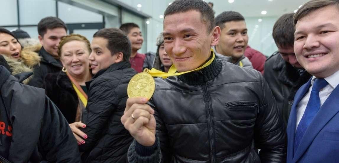Победителей встречали в аэропорту