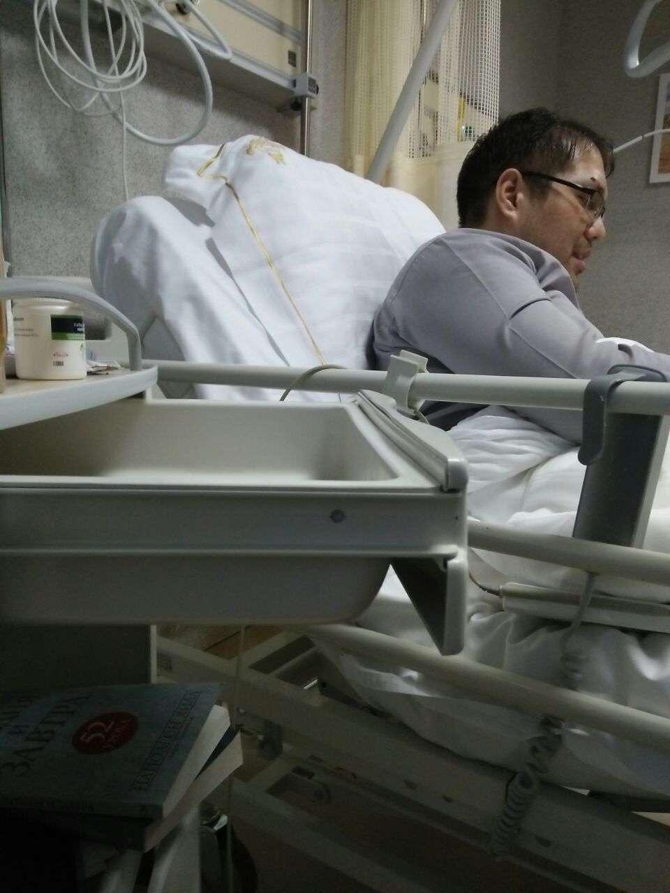 Бауржан Мусин в больнице