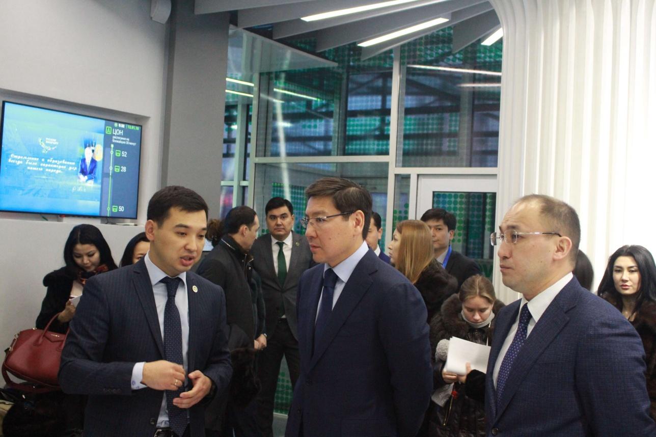 С работой Digital ЦОН ознакомились Аскар Жумагалиев и Даурен Абаев