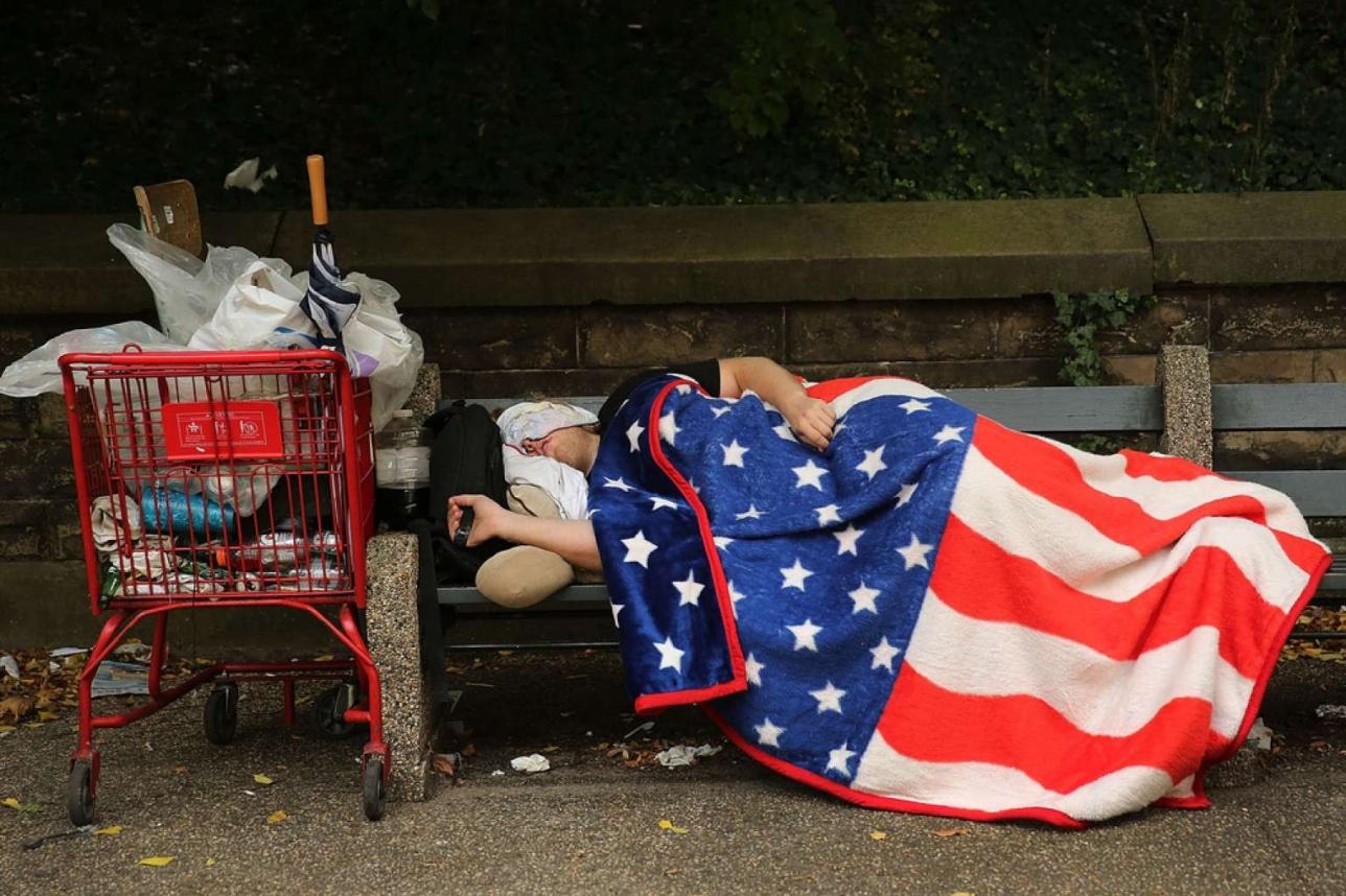 Количество бедных и бездомных граждан в США растёт последние 10 лет