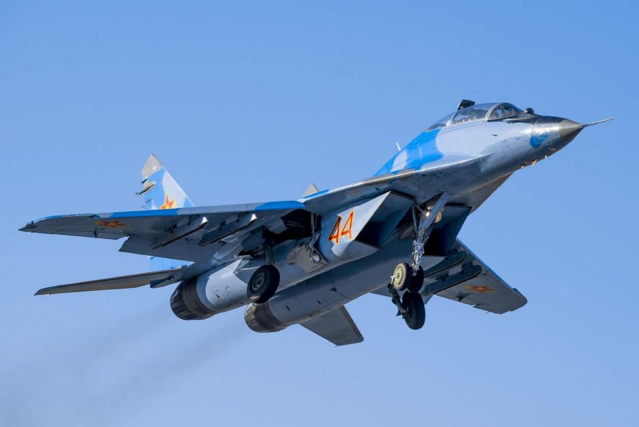 В боевом составе 602-й авиабазы есть также истребители ближнего боя МиГ-29