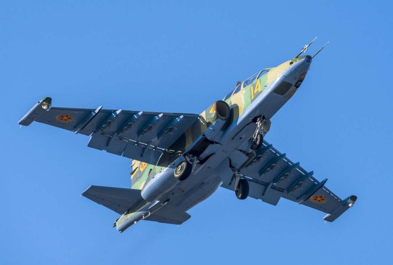Взлет Су-25 УБМ