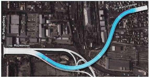 Проект развязки на улице Жансугурова