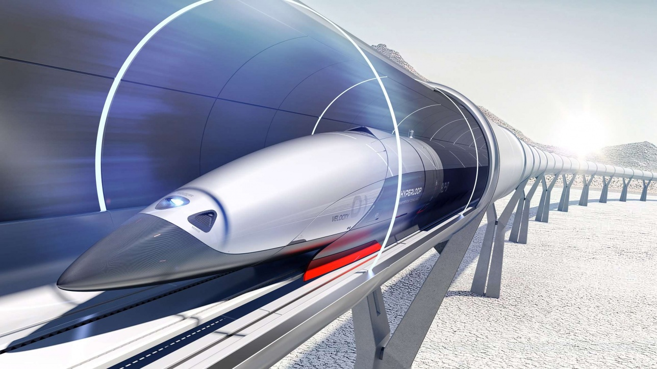 Один из эскизов проекта Hyperloop