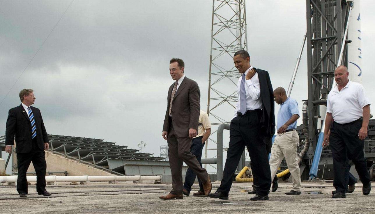 Илон Маск убедил уже двух президентов США, что будущее за частными космическими компаниями