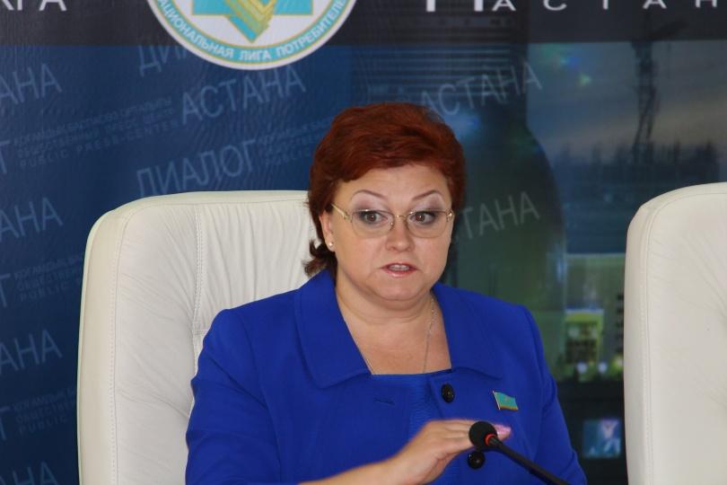 Депутат Мажилиса и президент Национальной лиги потребителей Светлана Романовская