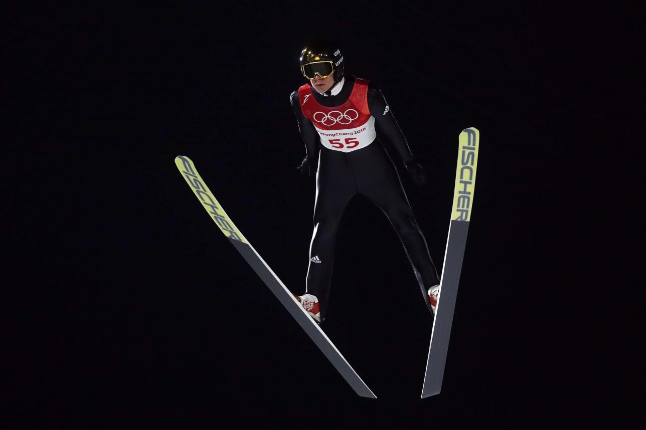 Этот полёт Андреса Веллингера стал лучшим на Олимпиаде