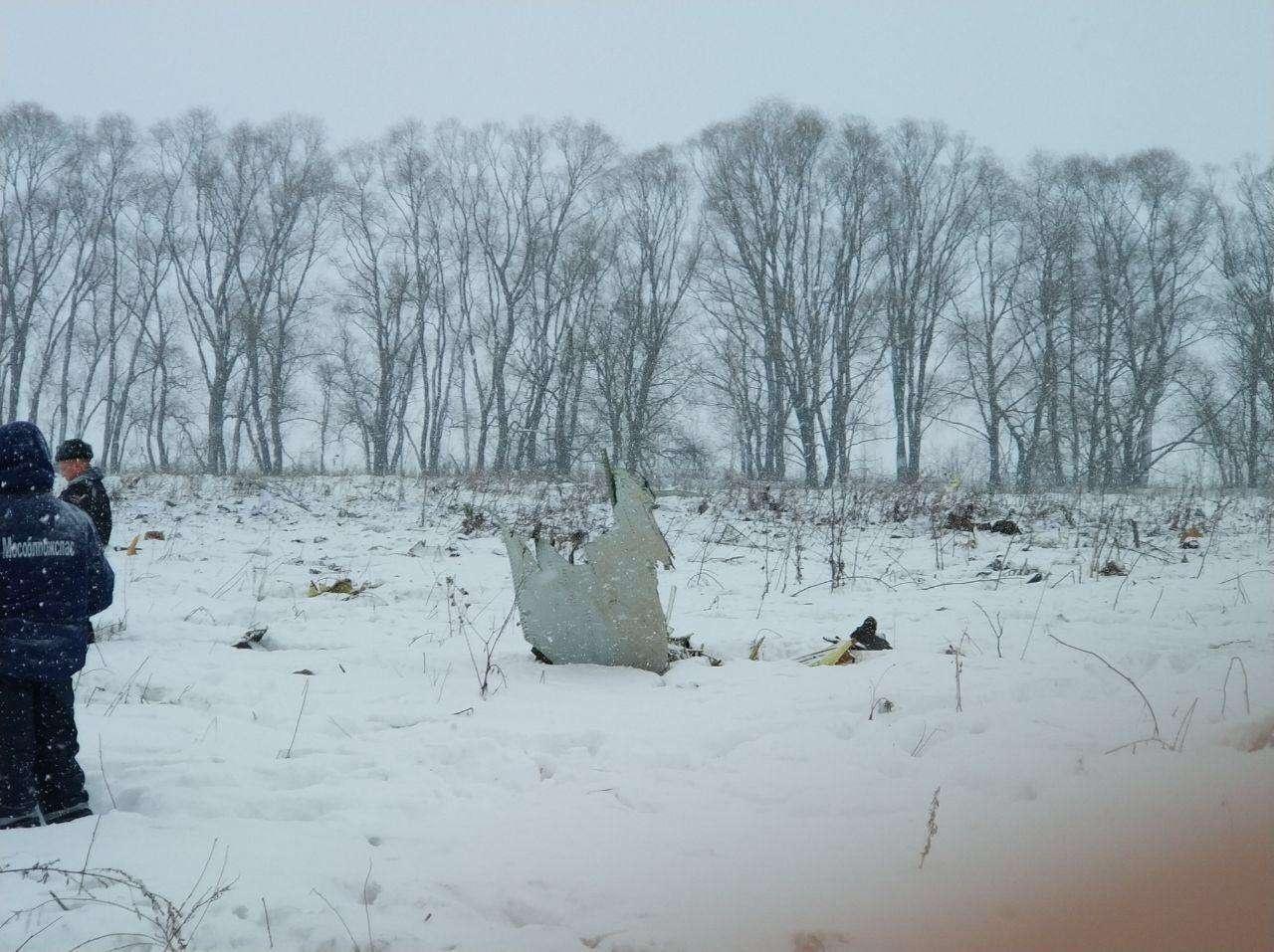На месте крушения Ан-148 в Московской области