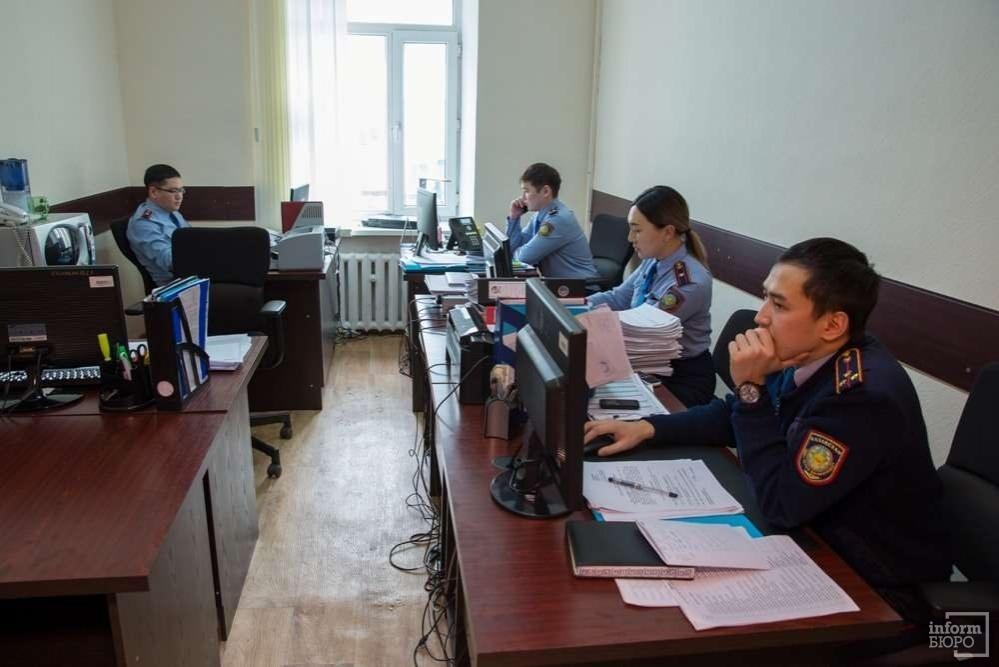 кабинет сотрудников в ДВД города Астаны