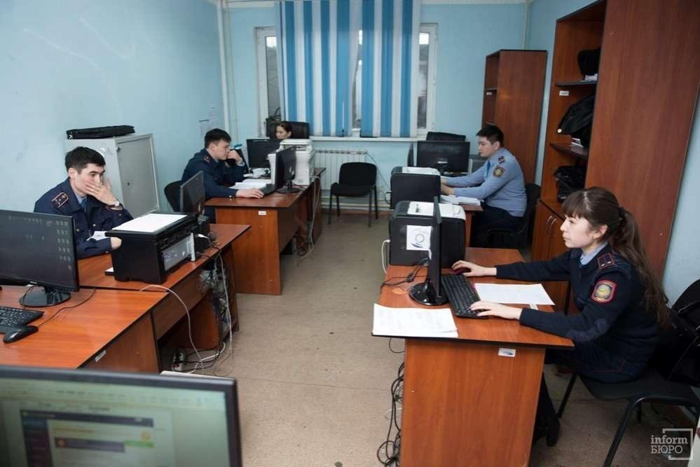 Сотрудники Сарыаркинского отделения полиции