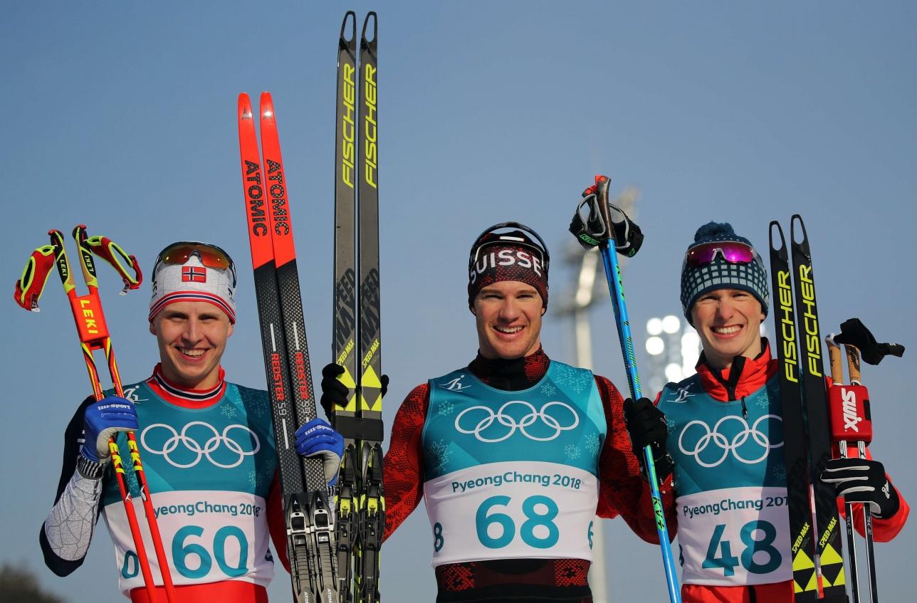 Симен Крюгер (слева), Дарио Колонья (в центре) и Денис Спицов (справа)