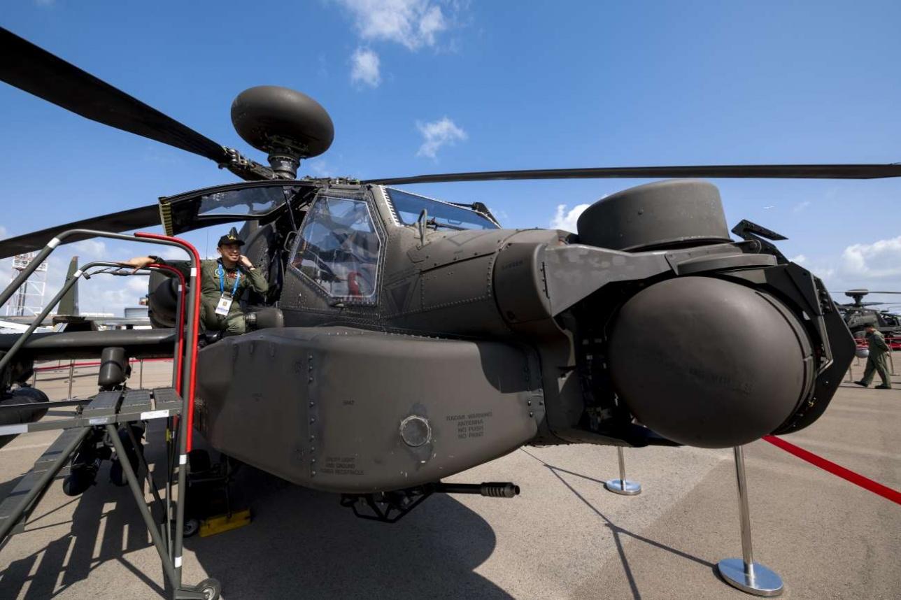 Ударный вертолёт AH-64 Apache ВВС Сингапура