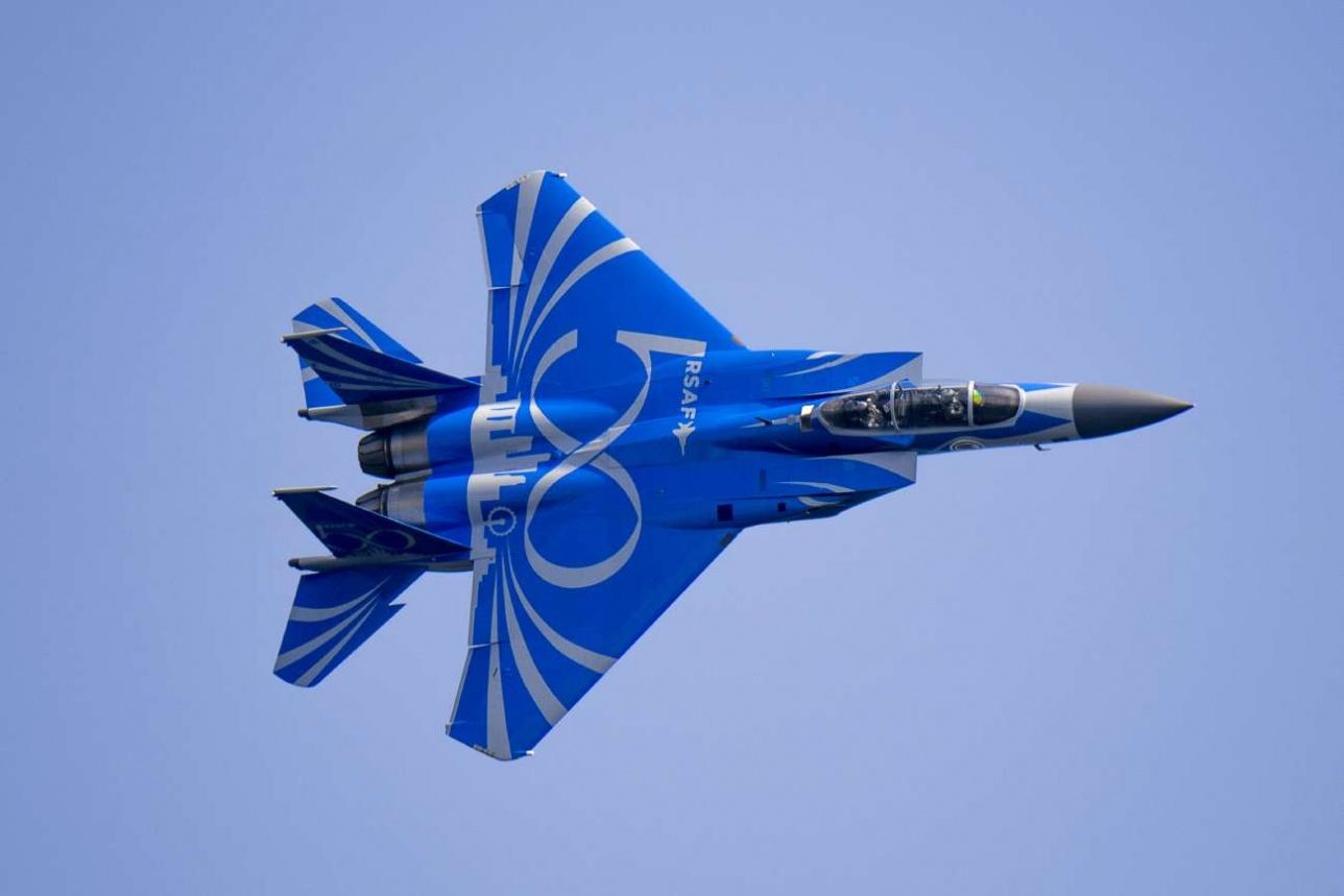 F-15SG оформленный к 50-летию ВВС Сингапура
