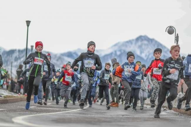 Более 90 детей приняли участие в зимнем забеге