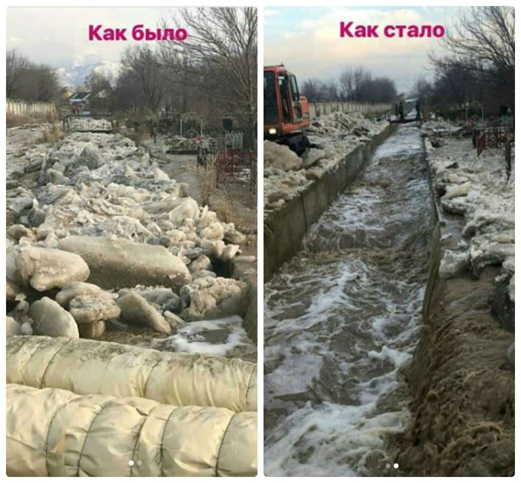 В Алматы очистили арычную систему