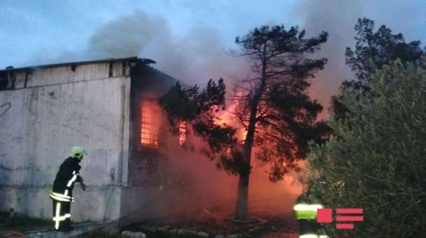 Пожар в наркодиспансере Баку