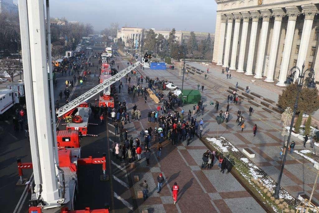 Всемирный день гражданской обороны в Алматы