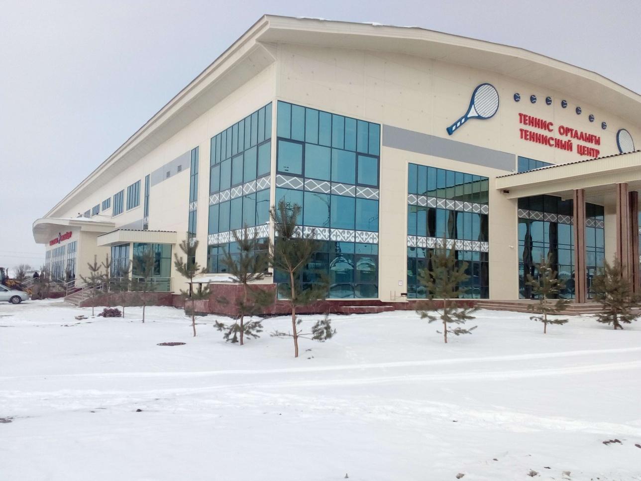 Современный теннисный центр в Петропавловске