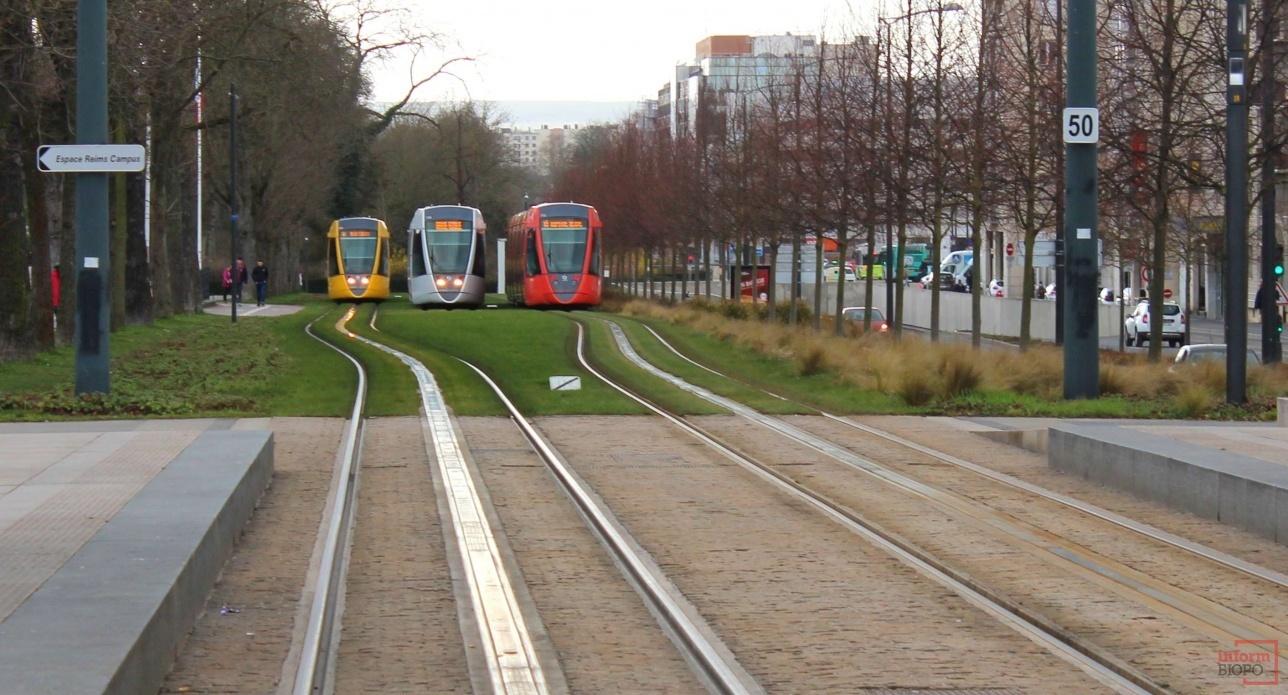 Трамваи в Реймсе
