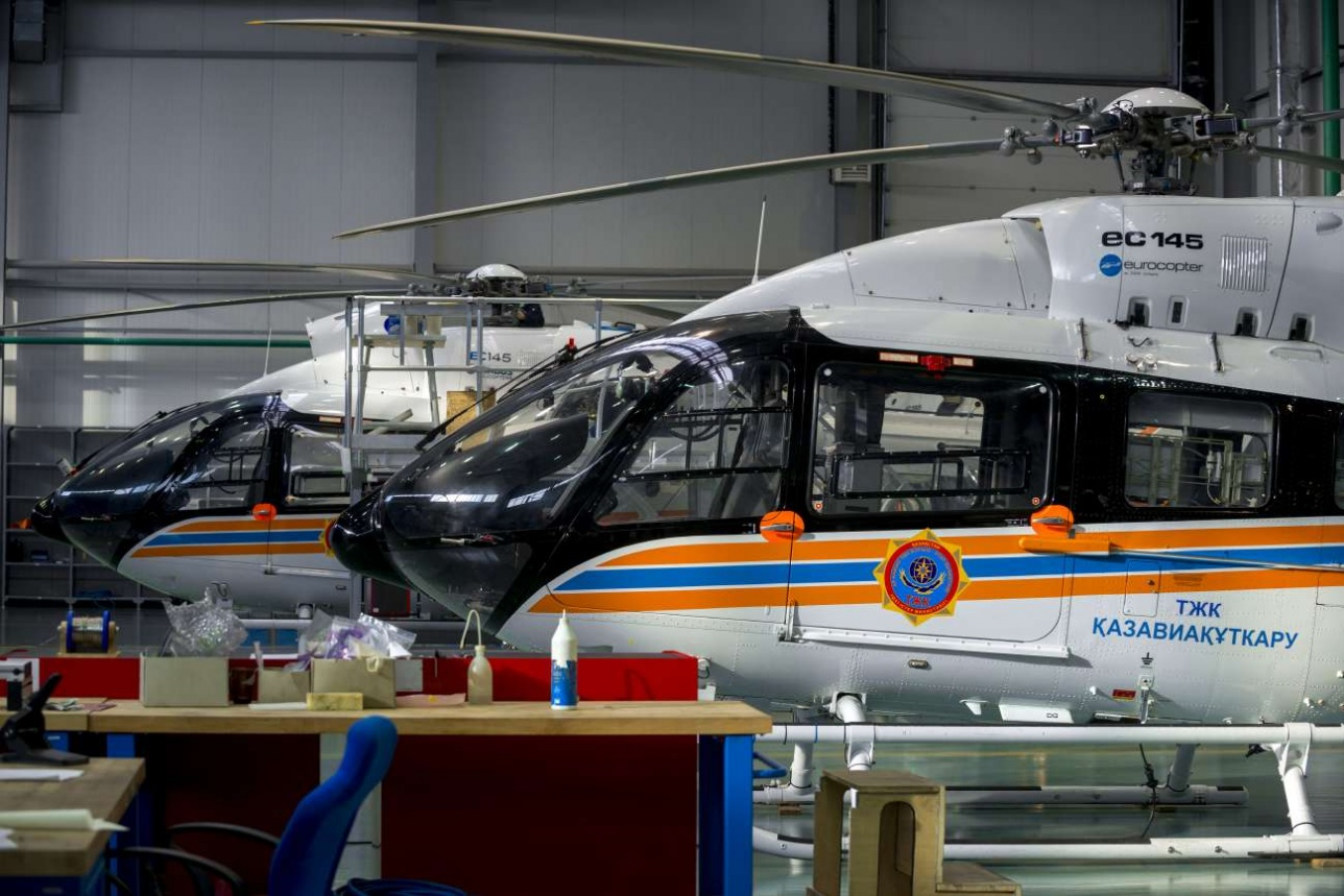 На заводе Eurocopter Kazakhstan Engineering в Астане