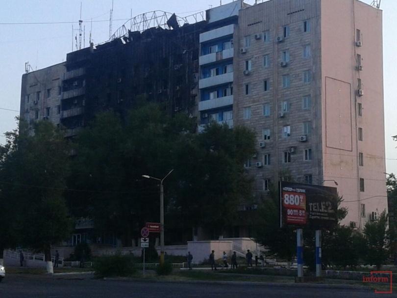 Вид здания после ликвидации огня