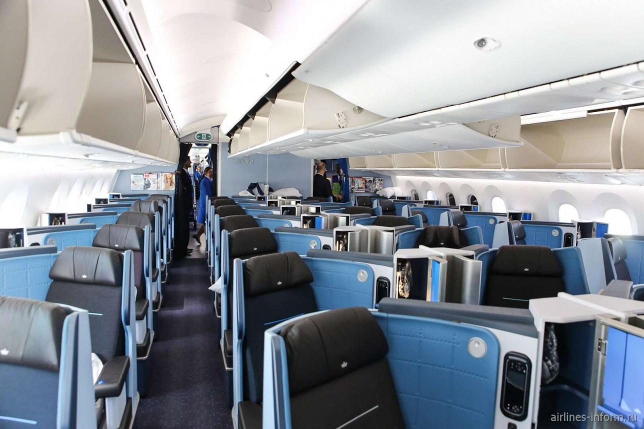 Бизнес-класс в самолёте Boeing 787-9