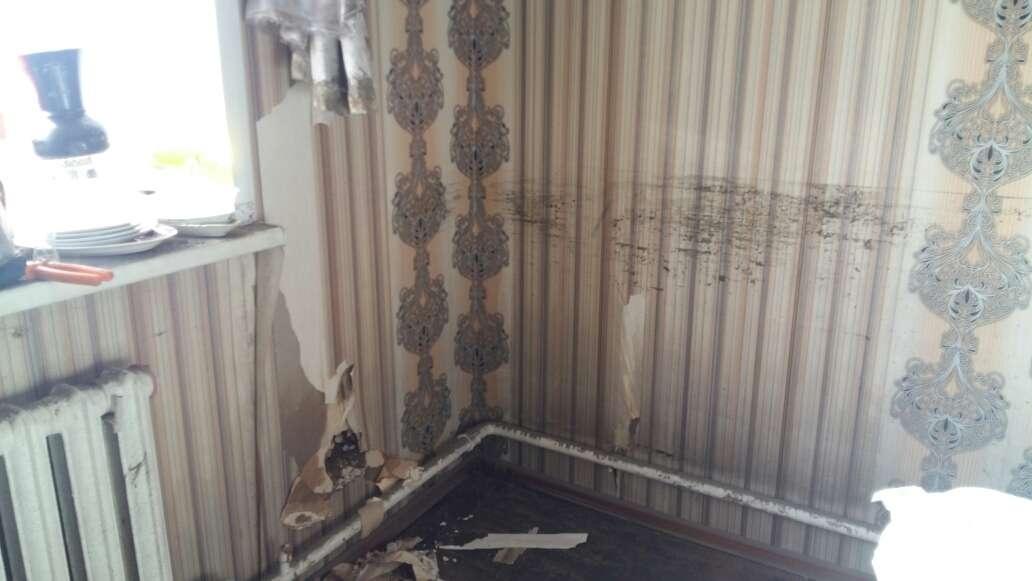 Повреждения в частном доме после паводка в Семее